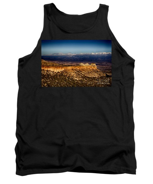 Mountains At Senator Clinton P. Anderson Scenic Route Overlook  Tank Top