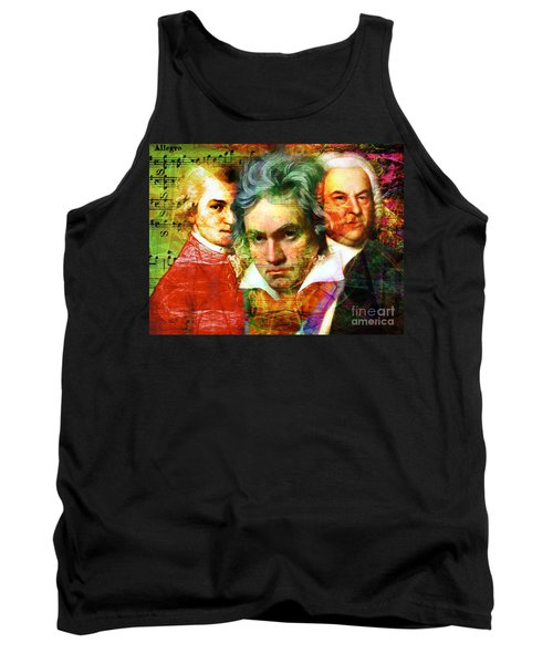 Tank Top featuring the photograph Mozart Beethoven Bach 20140128 by Wingsdomain Art and Photography