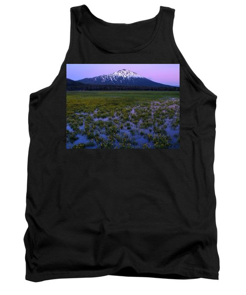 Tank Top featuring the photograph Mt. Bachelor Twilight by Kevin Desrosiers