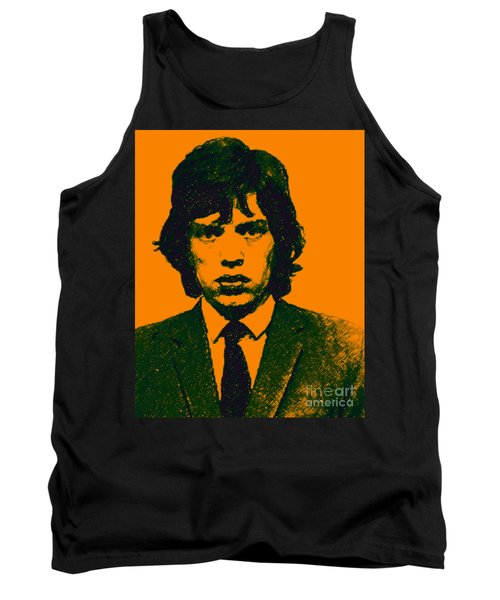 Tank Top featuring the photograph Mugshot Mick Jagger P0 by Wingsdomain Art and Photography
