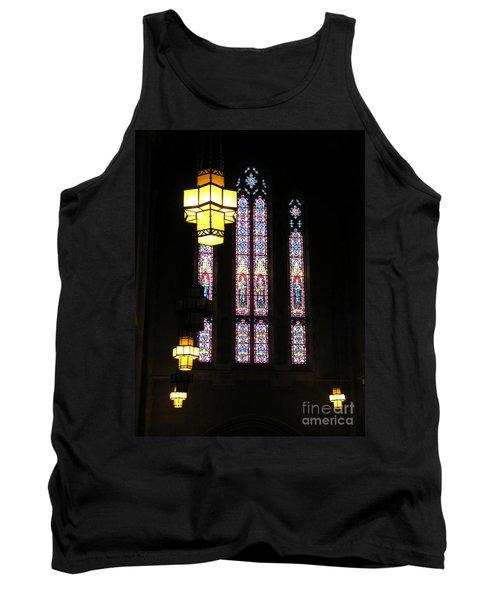 Egner Memorial Chapel Windows And Tudor Luminaries Tank Top