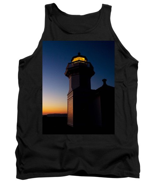 Tank Top featuring the photograph Mukilteo Light House Sunset by Sonya Lang