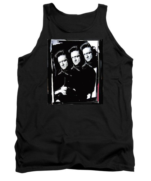 Tank Top featuring the photograph Multiple Johnny Cash Sitting Old Tucson Arizona 1971-2008 by David Lee Guss