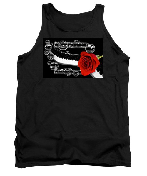 Tank Top featuring the photograph Musical Bubbles by Phyllis Denton