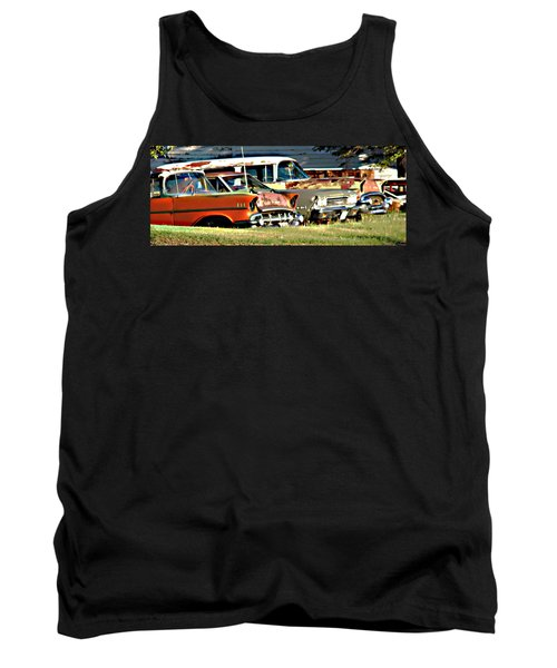 Tank Top featuring the digital art My Cars by Cathy Anderson
