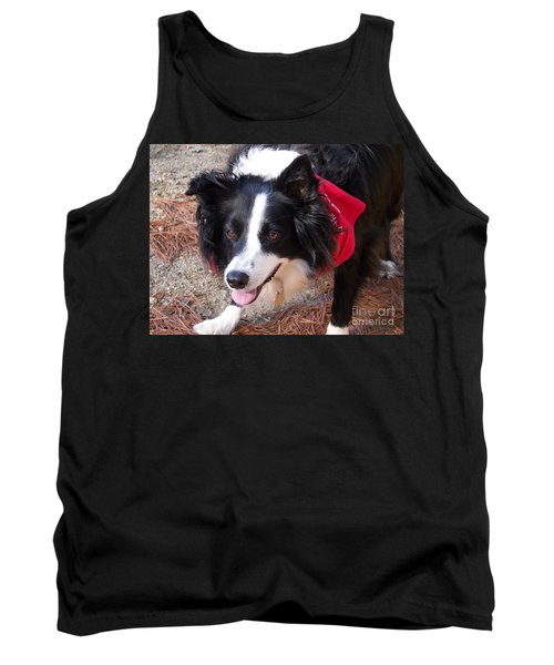 Tank Top featuring the photograph Female Border Collie by Eunice Miller