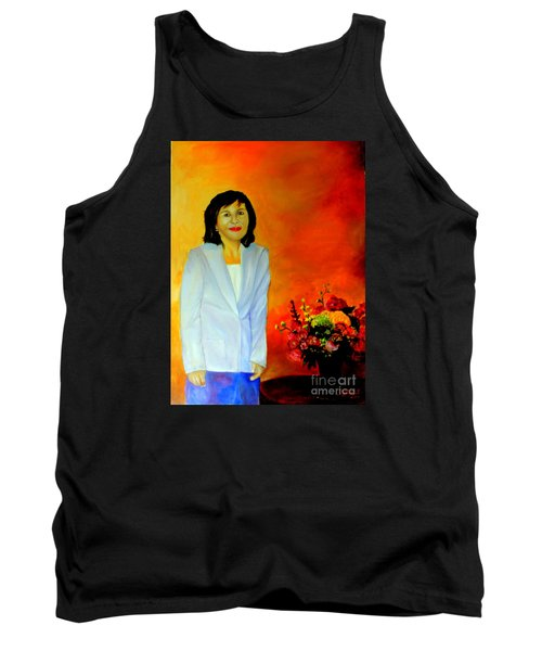 Tank Top featuring the painting My Wife by Jason Sentuf
