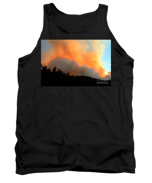Tank Top featuring the photograph Myrtle Fire Near Rifle Pit Road by Bill Gabbert