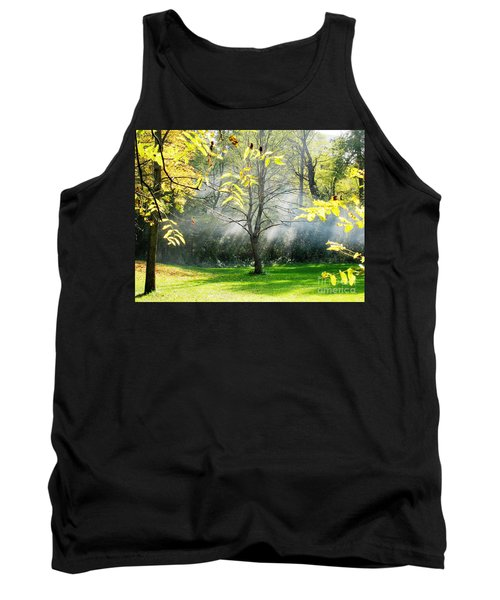 Tank Top featuring the photograph Mystical Parkland by Nina Silver