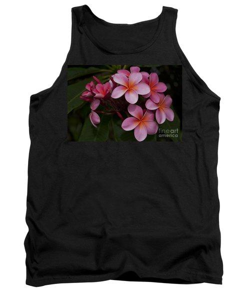 Na Lei Pua Melia O Wailua - Pink Tropical Plumeria Hawaii Tank Top
