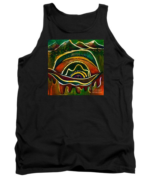 Tank Top featuring the painting Nature's Child Spirit Eye by Deborha Kerr