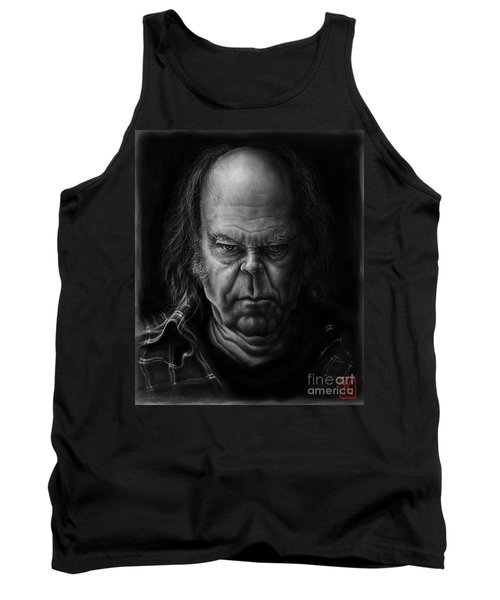 Neil Young Tank Top by Andre Koekemoer