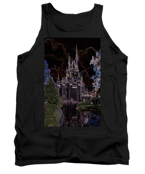 Neon Castle Tank Top by Eric Liller