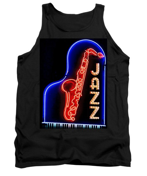 Tank Top featuring the photograph Neon Jazz by Nadalyn Larsen