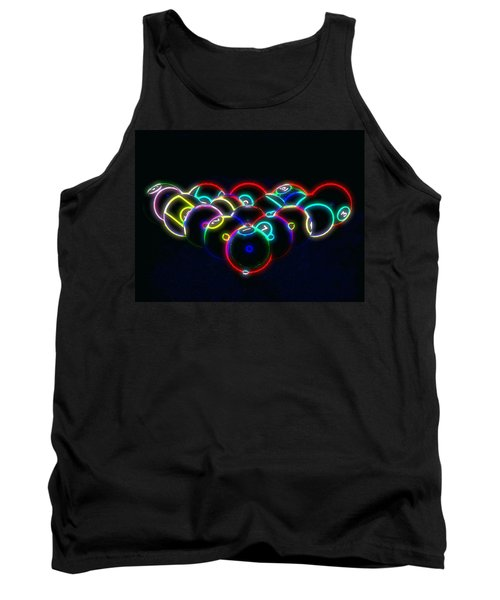 Tank Top featuring the photograph Neon Pool Balls by Kathy Churchman
