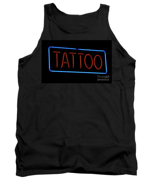 Neon Tattoo Sign Tank Top by Phil Cardamone