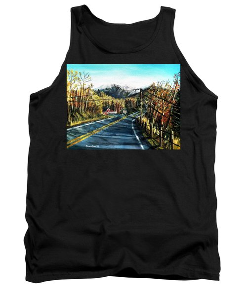 Tank Top featuring the painting New England Drive by Shana Rowe Jackson