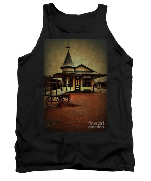 Tank Top featuring the photograph New Hope Ivyland Train Station by Debra Fedchin