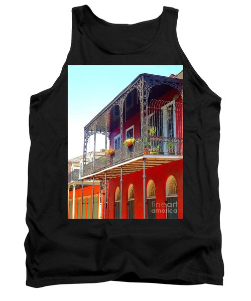 New Orleans French Quarter Architecture 2 Tank Top by Saundra Myles