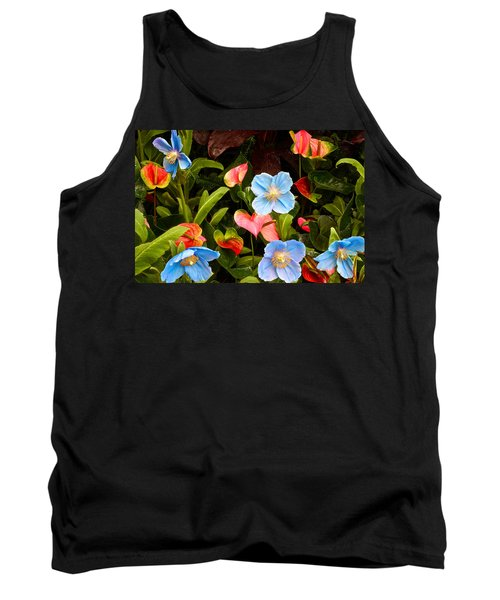 New World And Old World Exotic Flowers Tank Top