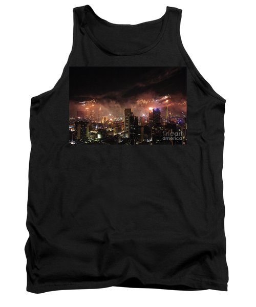 New Year Fireworks Tank Top