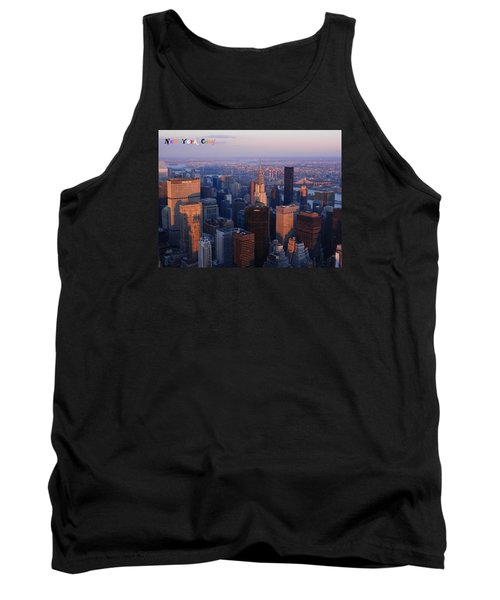 Tank Top featuring the photograph New York City At Dusk by Emmy Marie Vickers