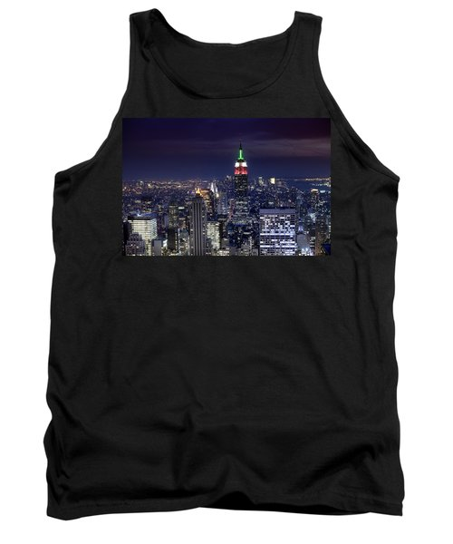 New York Skyline Night Color Tank Top