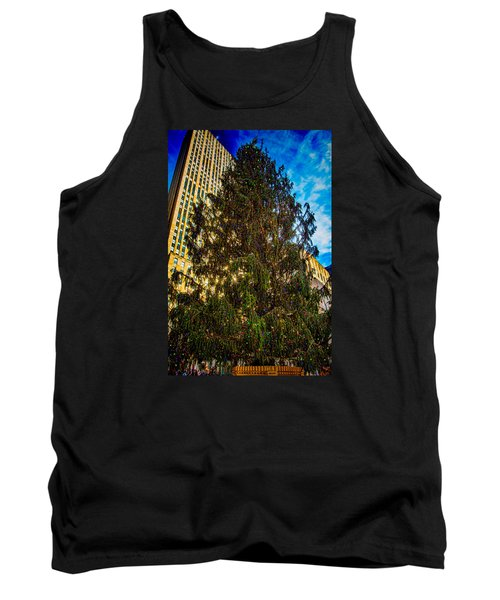 Tank Top featuring the photograph New York's Holiday Tree by Chris Lord