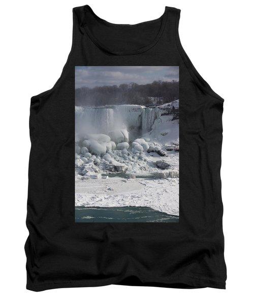 Niagara Falls Ice Buildup - American Falls New York State U S A Tank Top