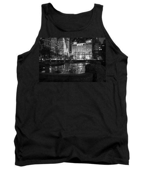 Night Central Park Lake H Tank Top