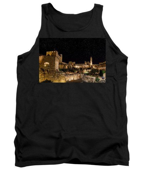 Night In The Old City Tank Top by Alexey Stiop