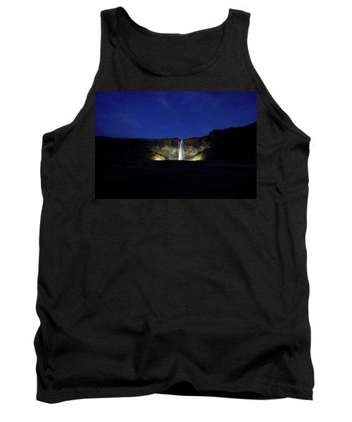 Night Shot Of Seljalandsfoss Tank Top