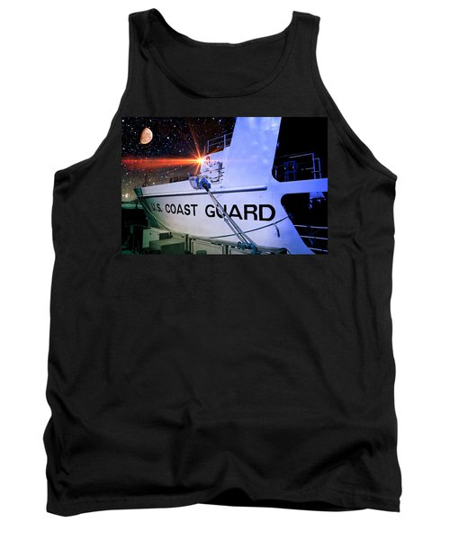 Tank Top featuring the photograph Night Watch Us Coast Guard by Aaron Berg