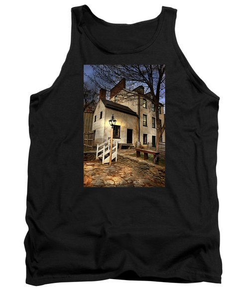 Tank Top featuring the digital art Night Watchman by Mary Almond