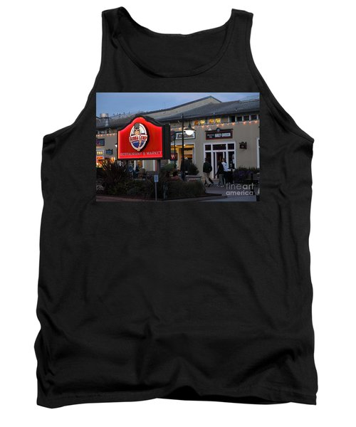 Nightfall At Bubba Gump Restaurant On Monterey Cannery Row California 5d25171 Tank Top