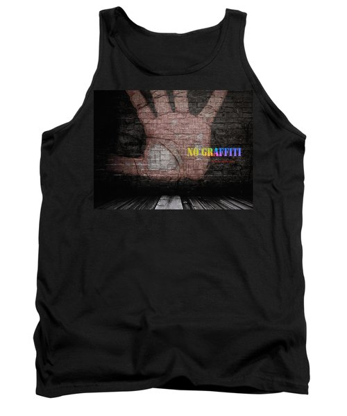 No Graffiti Tank Top by ISAW Gallery