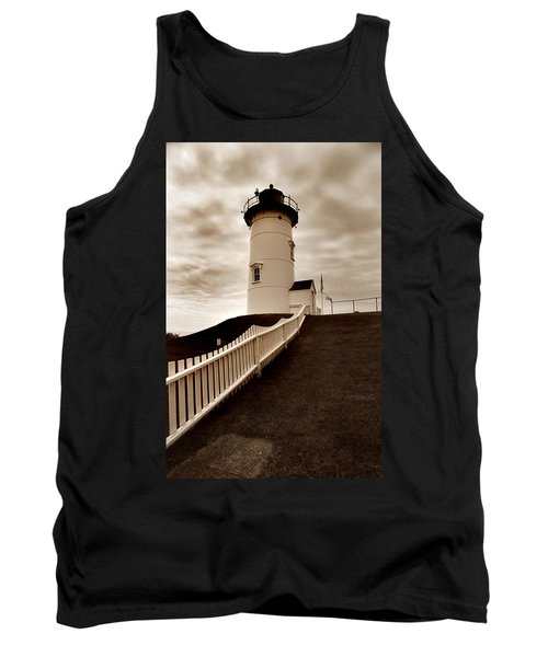 Nobska Lighthouse Tank Top by Skip Willits