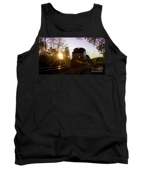 Norfolk And Southern At Sunset Tank Top