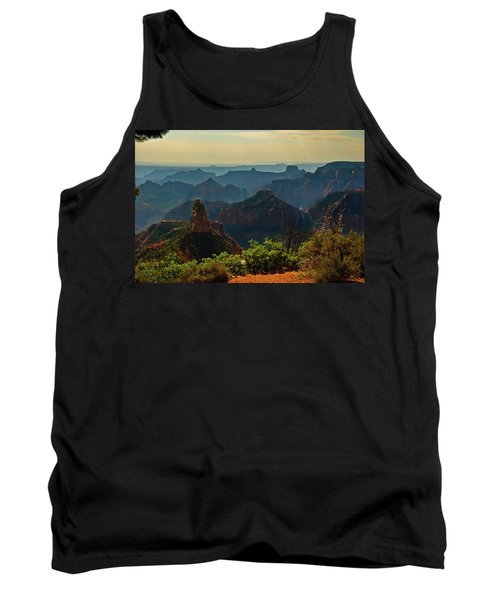 Tank Top featuring the photograph North Rim Grand Canyon Imperial Point by Bob and Nadine Johnston