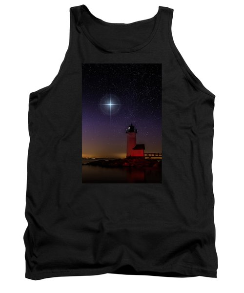 Star Over Annisquam Lighthouse Tank Top