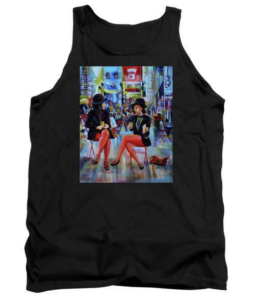 Nyc Red Chairs Tank Top by Anna  Duyunova
