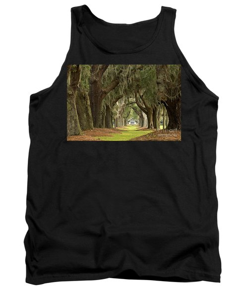 Oaks Of The Golden Isles Tank Top by Adam Jewell