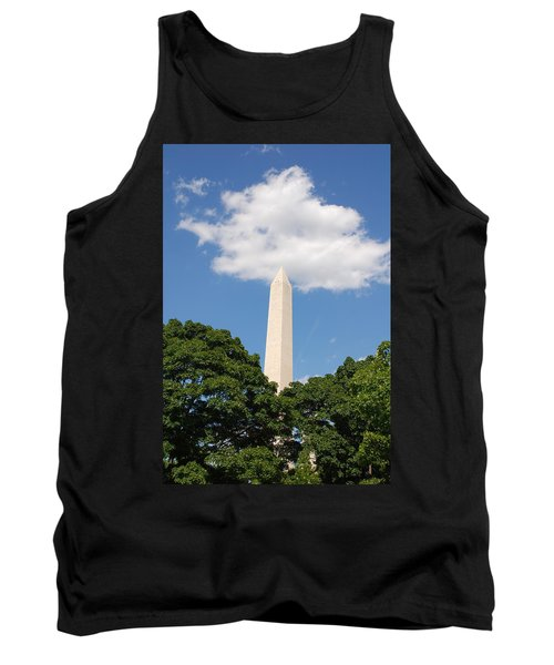 Obelisk Rises Into The Clouds Tank Top