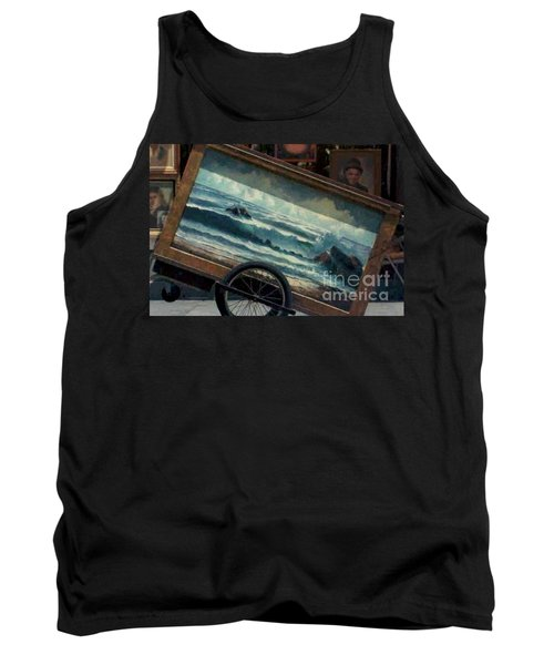 Tank Top featuring the photograph Ocean On Wheels Artist Cart At Jackson Square New Orleans La Usa by Michael Hoard
