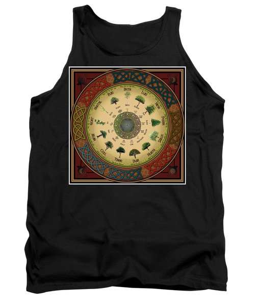 Ogham Tree Calendar Tank Top