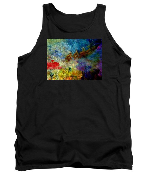 Tank Top featuring the painting Oh The Joys Of Santa's Toys by Lisa Kaiser