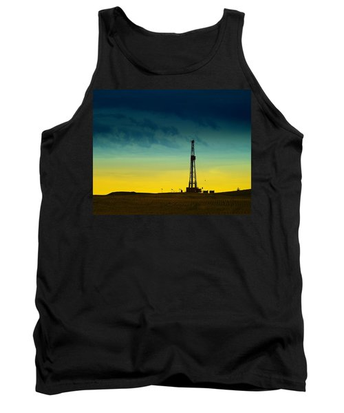 Oil Rig In The Spring Tank Top