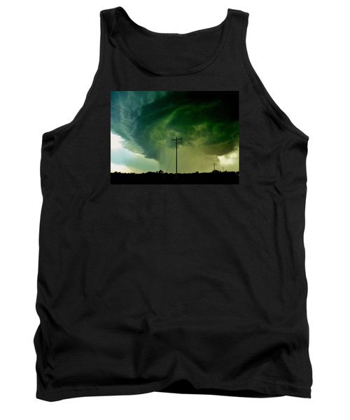 Tank Top featuring the photograph Oklahoma Mesocyclone by Ed Sweeney