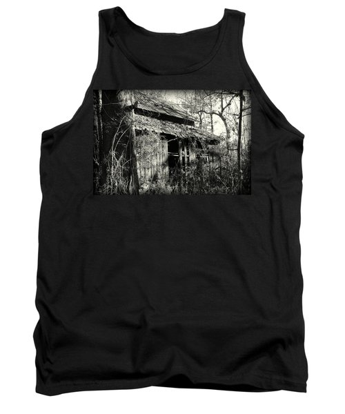 Old Barn In Black And White Tank Top
