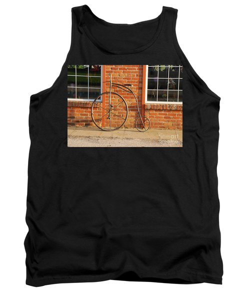 Old Bike Tank Top by Mary Carol Story